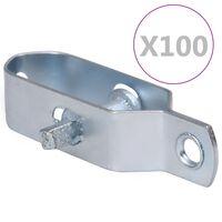 vidaXL 100 darab ezüstszínű acél huzalfeszítő kerítéshez 100 mm