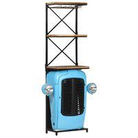vidaXL kék traktor formájú tömör mangófa borszekrény 49 x 31 x 170 cm