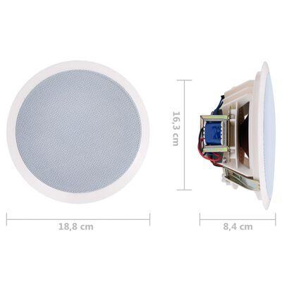 vidaXL 2 db beépített fali és mennyezeti hangszóró magassugárzóval 240 W
