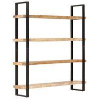 vidaXL 4 szintes nyers mangófa könyvespolc 160 x 40 x 180 cm