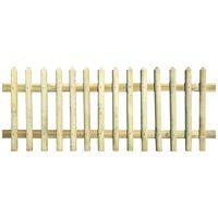 vidaXL impregnált fenyőfa léckerítés 170x100 cm 5/7 cm