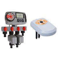 vidaXL automatikus 4-utas öntözésidőzítő és nedvességérzékelő 3 V
