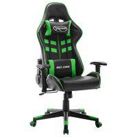 vidaXL fekete és zöld műbőr gamer szék