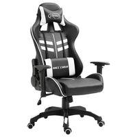 vidaXL fehér műbőr gamer szék