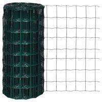 vidaXL Euro Fence zöld acélkerítés 10 x 0,8 m
