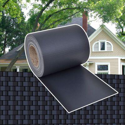 vidaXL sötétszürke kerti PVC árnyékoló kerítés 70 x 0,19 m