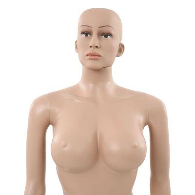 vidaXL bézs színű szexi női próbababa üvegtalppal 180 cm ,