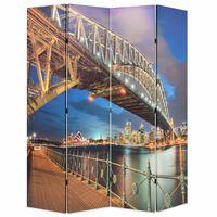 vidaXL Sydney-i Kikötőhíd mintás paraván 160 x 170 cm