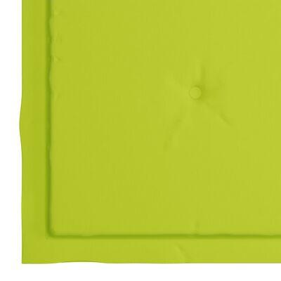 vidaXL 4 db világoszöld szövet kerti székpárna 40 x 40 x 4 cm