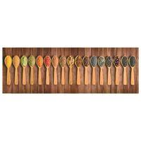 """vidaXL """"Spoons"""" mintájú mosható konyhaszőnyeg 60 x 300 cm"""