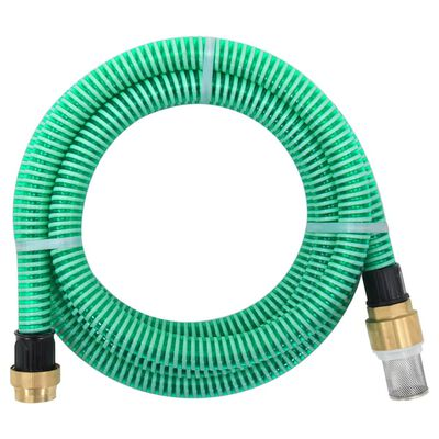 vidaXL zöld szívótömlő sárgaréz csatlakozókkal 10 m 25 mm