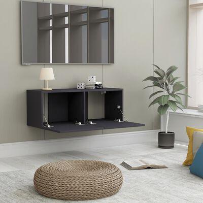 vidaXL szürke forgácslap TV-szekrény 80 x 30 x 30 cm