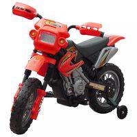 Gyerekek Elektromos Piros Motorkerékpár