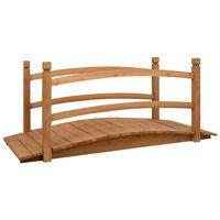 vidaXL tömör fenyőfa kerti híd 140 x 60 x 60 cm