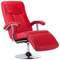 vidaXL piros műbőr TV-fotel