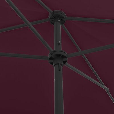 vidaXL bordóvörös strandnapernyő 200 x 125 cm