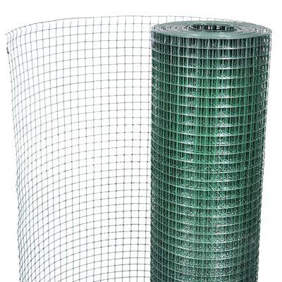 vidaXL zöld horganyzott csirkeháló drótkerítés PVC bevonattal 25 x 1 m