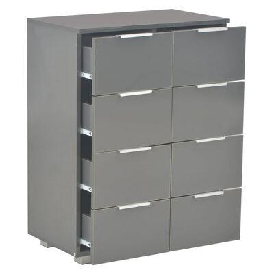 vidaXL szürke magasfényű forgácslap tálalószekrény 60 x 35 x 76 cm