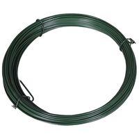 vidaXL zöld acél drótkerítés összekötő drót 1,4/2 mm 25 m