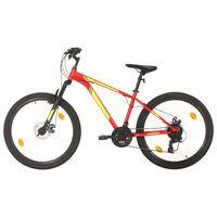 vidaXL 21 sebességes piros mountain bike 27,5 hüvelykes kerékkel 50 cm
