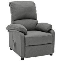 vidaXL világosszürke szövet dönthető szék
