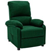 vidaXL sötétzöld szövet dönthető szék