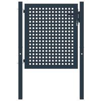 vidaXL antracitszürke acél kerítéskapu 102 x 125 cm