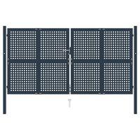 vidaXL antracitszürke acél kerítéskapu 306 x 250 cm
